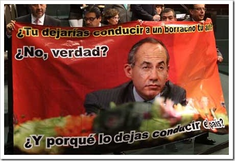 Lona contra Calderón