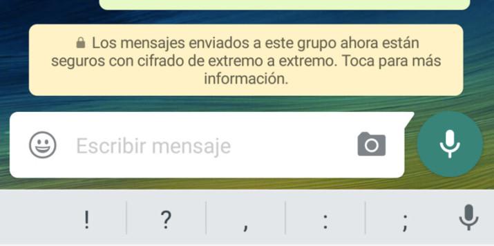 mesajes cifrados whatsapp